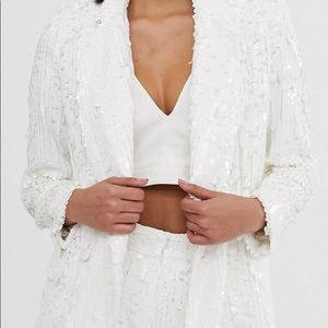 ASOS sequin suit dbl breasted. Sold out on site